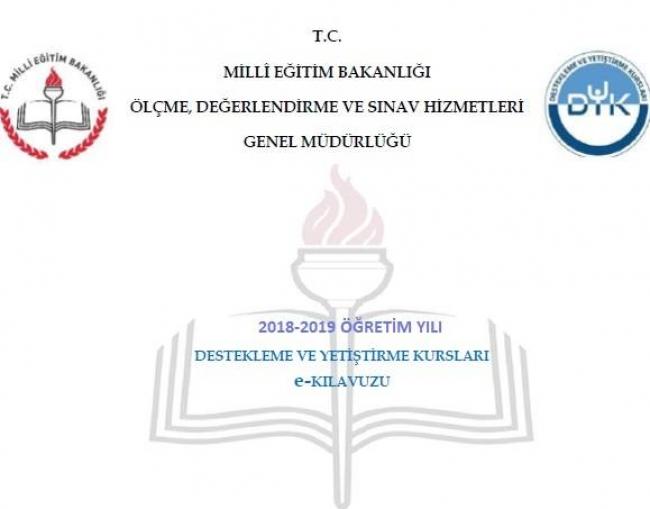 2018-2019 MEB Kurs Takvimi-Öğretmen ve Öğrenci Başvuruları