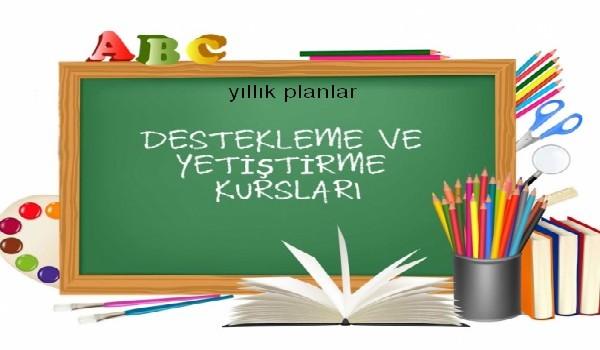 5. Sınıf Kurs Planları 2017-2018