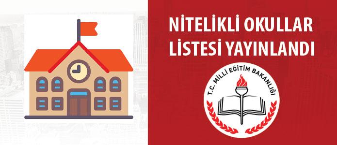 8. Sınıfların Tercih Edebilecekleri Nitelikli Okulların Listesi