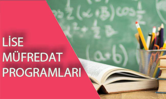 Lise Yeni Müfredat-Öğretim Programları