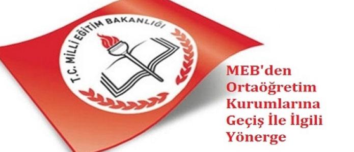 MEB 2018 Liselere Geçiş Yönergesi