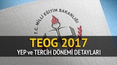 2017 TEOG YEP'e Göre Tercih,Nakil İş ve İşlemleri, Lise Kontenjanları