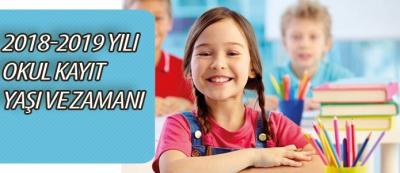 2018-2019 Yılı Okul Öncesi ve İlkokul Kayıt Yaşı ve Zamanı