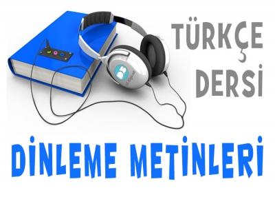 4. Sınıf Türkçe Dinleme Metinleri (2017-2018)