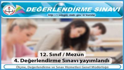 LYS MEZUN 4. DEĞERLENDİRME SINAVI