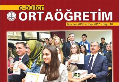 Ortaöğretim e-bülten yeni sayısı yayımlandı