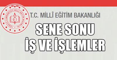 SENE SONU İŞ VE İŞLEMLER