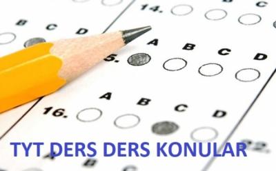 YKS (1.Oturum)TYT Matematik-Türkçe-Sosyal Bilgiler ve Fen Bilimleri Konuları